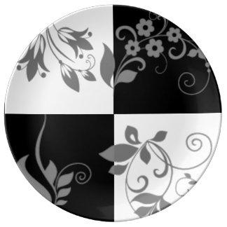 Black & white plate