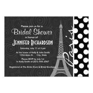Black White Polka Dot Dots Paris Cards
