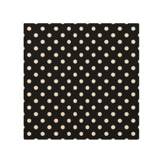 Black & White Polka Dot Modern Abstract Pattern Wood Print