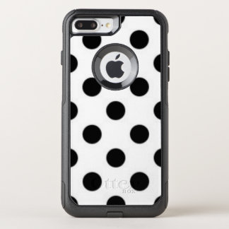 Black white Polka Dot Pattern Print Design OtterBox Commuter iPhone 8 Plus/7 Plus Case