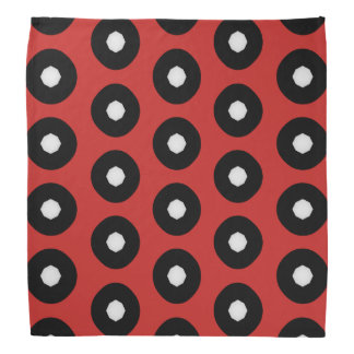Black/White Polka Dot Red Background (Changeable) Bandana