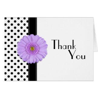 Black & White Polka Dot Thank You Card