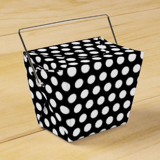 Black & White Polka Dots Carry Out Gift /Favor Box