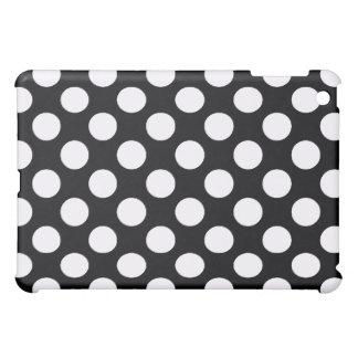 Black White Polka Dots - iPad Mini Case