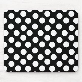 Black & White Polka Dots Mouse Pad