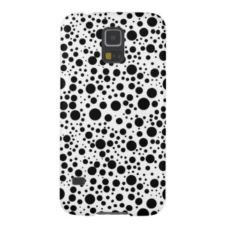 Black & White Polka Dots Pattern Samsung Galaxy S5 Galaxy S5 Cover
