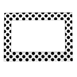 Black White Polka Dots - Picture Magnetic Frame
