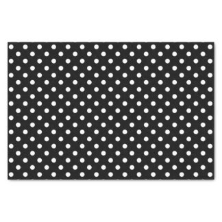 Black & white polka dots wedding gift tissue paper