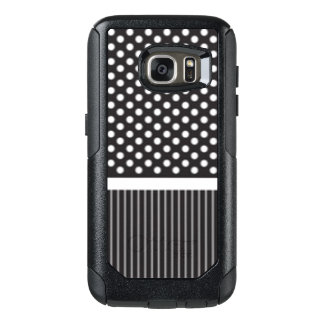 Black White Polkadot Stripes Pattern Print Design OtterBox Samsung Galaxy S7 Case