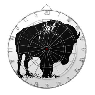 Black & White Pop Art Bison Buffalo Dartboards