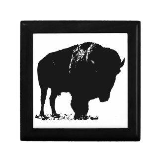 Black & White Pop Art Bison Buffalo Keepsake Box