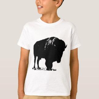 Black & White Pop Art Bison Buffalo T-Shirt