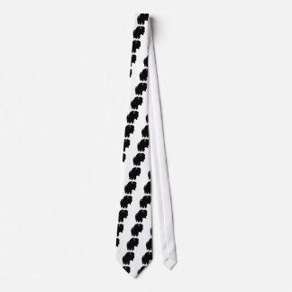 Black & White Pop Art Bison Buffalo Tie