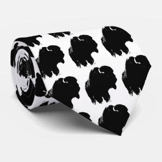 Black & White Pop Art Bison / Buffalo Tie