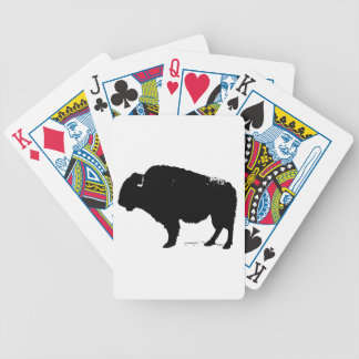 Black & White Pop Art Buffalo Bison Bicycle Playing Cards