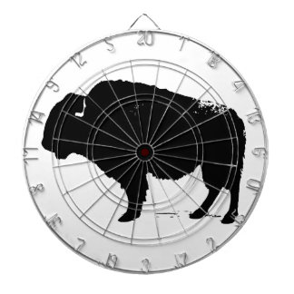 Black & White Pop Art Buffalo Bison Dartboard