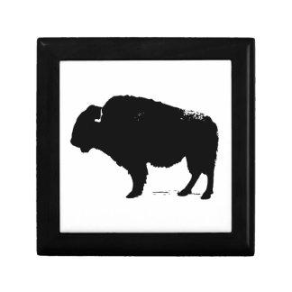 Black & White Pop Art Buffalo Bison Gift Box