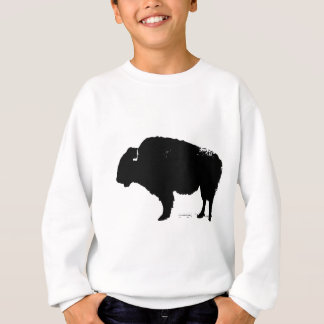 Black & White Pop Art Buffalo Bison Sweatshirt