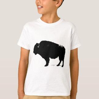 Black & White Pop Art Buffalo Bison T-Shirt