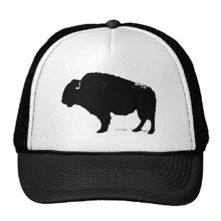 Black & White Pop Art Buffalo Bison Trucker Hat