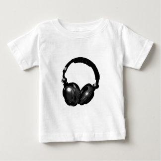 Black & White Pop Art Headphone Baby T-Shirt