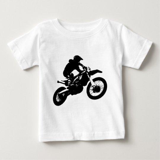 Black White Pop Art Motocross Motorcyle Sport Baby T-Shirt
