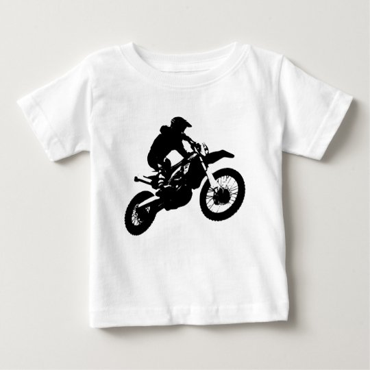 Black White Pop Art Motocross Motorcyle Sport Baby T-Shirt