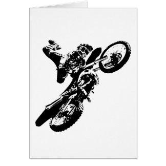 Black White Pop Art Motocross Motorcyle Sport Card