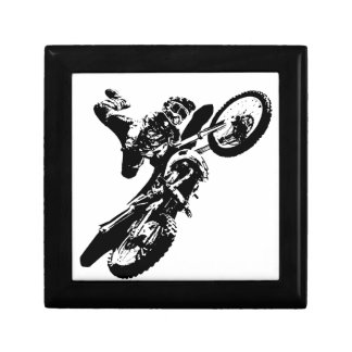 Black White Pop Art Motocross Motorcyle Sport Gift Box