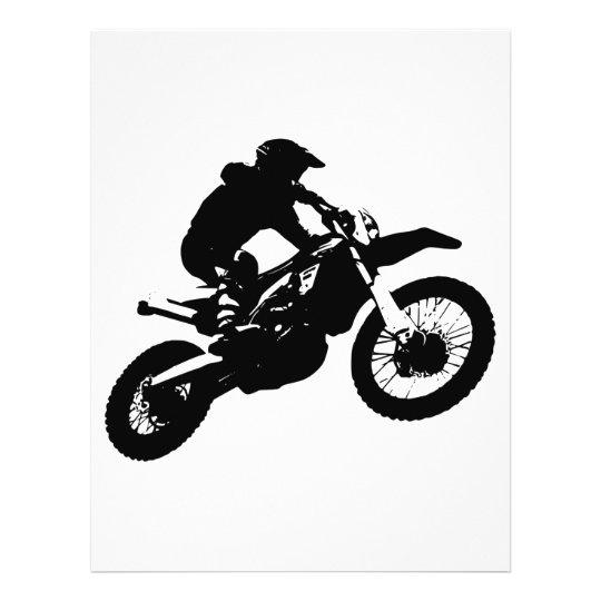 Black White Pop Art Motocross Motorcyle Sport Letterhead