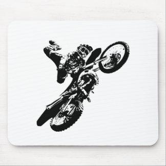 Black White Pop Art Motocross Motorcyle Sport Mouse Pad