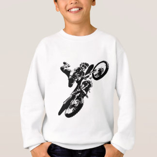 Black White Pop Art Motocross Motorcyle Sport Sweatshirt