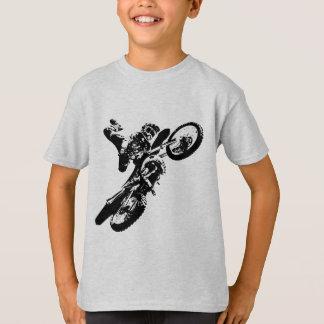 Black White Pop Art Motocross Motorcyle Sport T-Shirt