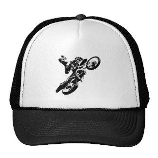 Black White Pop Art Motocross Motorcyle Sport Trucker Hat