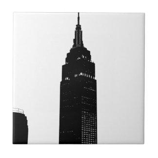 Black & White Pop Art New York Ceramic Tile