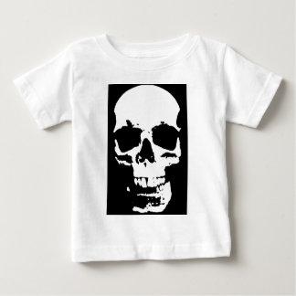 Black & White Pop Art Skull Stylish Cool Baby T-Shirt