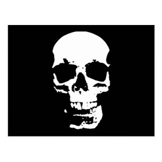Black & White Pop Art Skull Stylish Cool Postcard