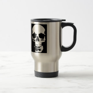Black & White Pop Art Skull Stylish Cool Travel Mug