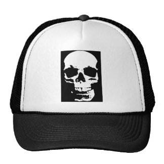 Black & White Pop Art Skull Stylish Cool Trucker Hat