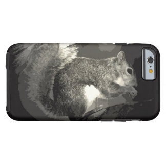 Black White Pop Art Style Squirrel Eating Nuts Tough iPhone 6 Case