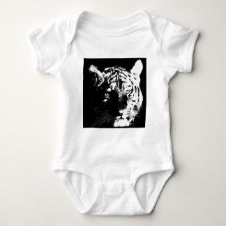 Black & White Pop Art Tiger Baby Bodysuit