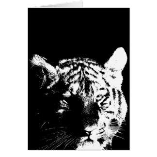 Black & White Pop Art Tiger Card