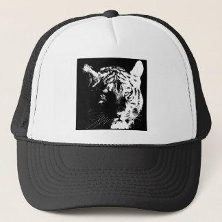 Black & White Pop Art Tiger Trucker Hat