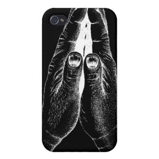 Black & White Praying Hands iPhone 4/4S Case-Mate iPhone 4 Covers
