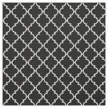Black White Quatrefoil Pattern Fabric