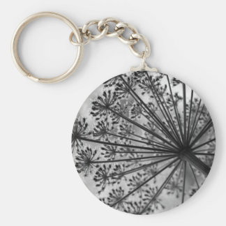 Black & White Queen Anne's Lace Keychain
