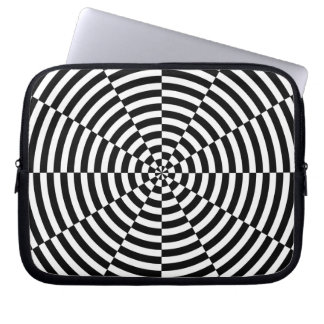 Black & White Radiation by Kenneth Yoncich Laptop Sleeve