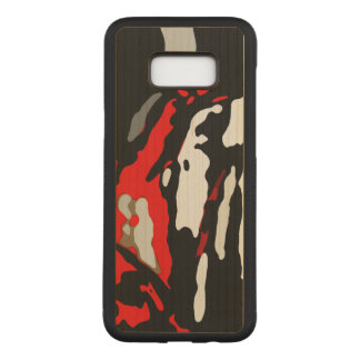 Black White Red Abstract Pattern Carved Samsung Galaxy S8+ Case