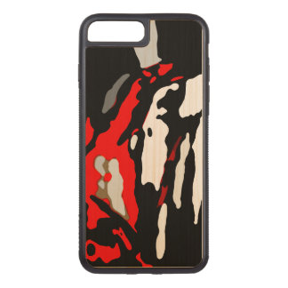 Black White Red Abstract Pattern Chic Carved iPhone 8 Plus/7 Plus Case