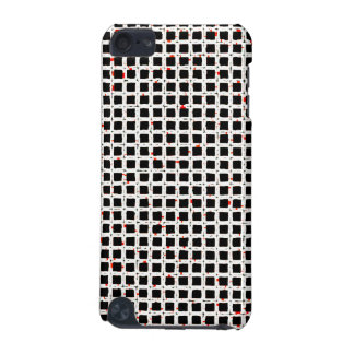 Black White Red Abstract Pattern Chic iPod Touch 5G Cover